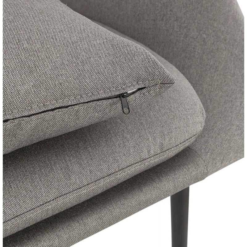 Fauteuil design lounge GOYAVE en tissu (gris clair) - image 43663