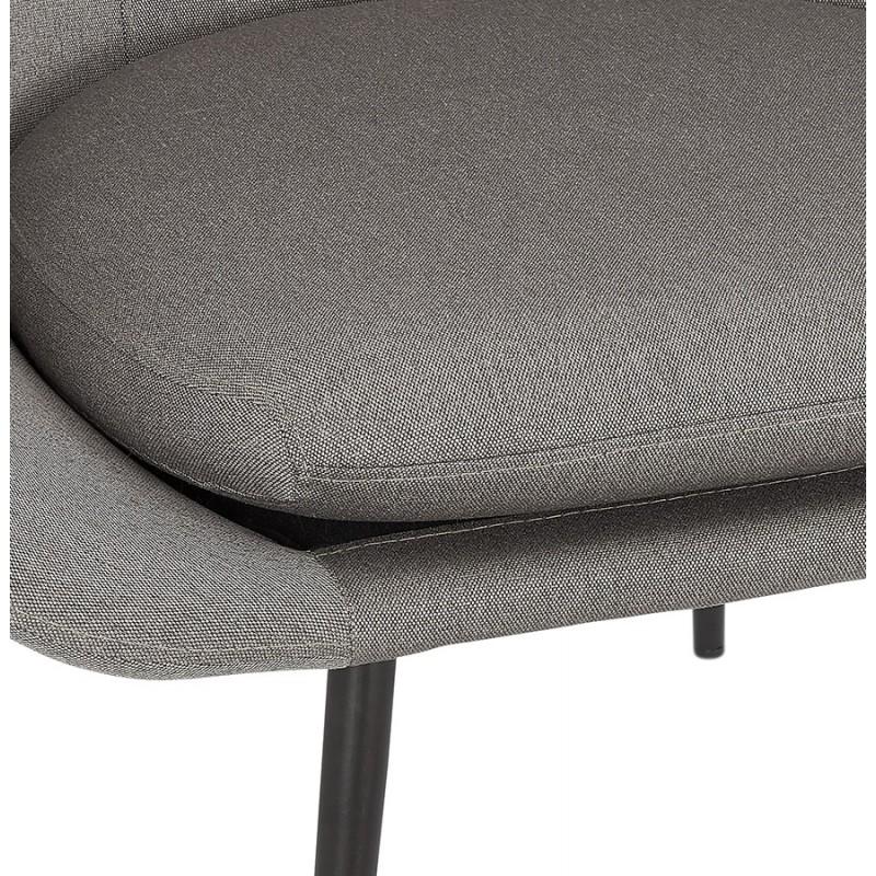 Fauteuil design lounge GOYAVE en tissu (gris clair) - image 43664