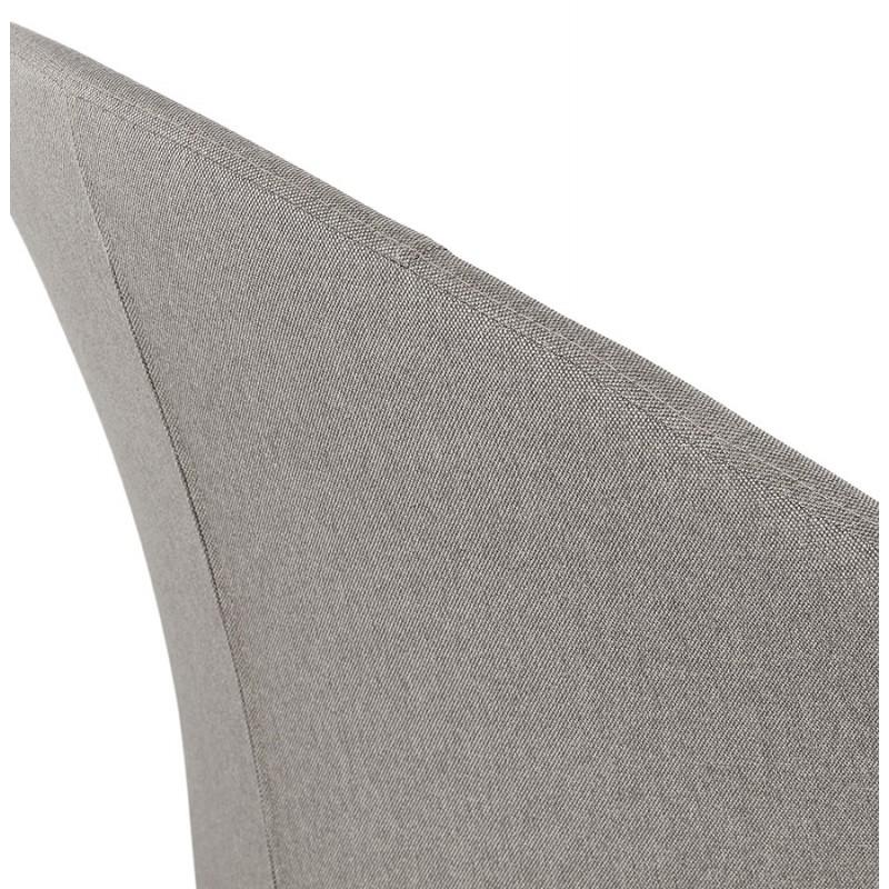 Fauteuil design lounge GOYAVE en tissu (gris clair) - image 43667