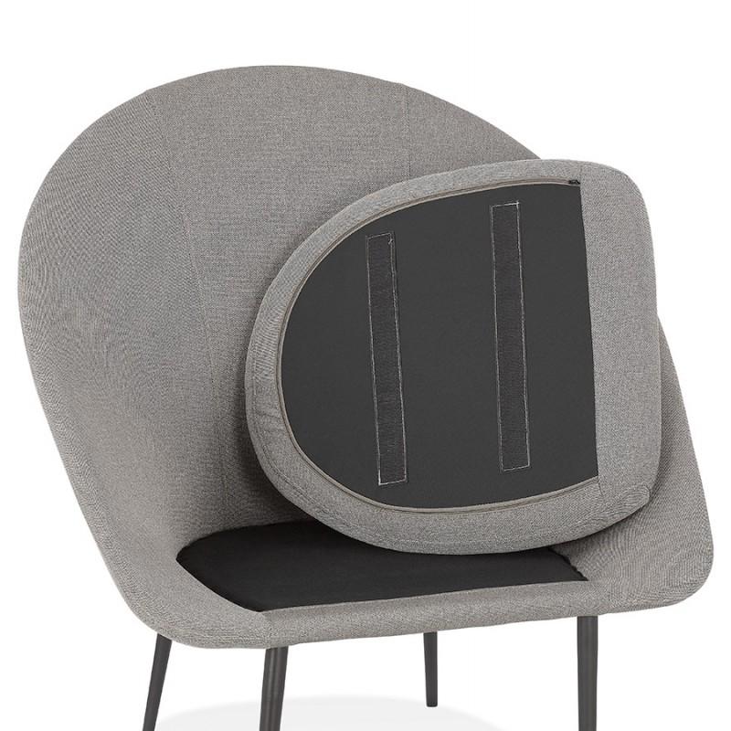 Fauteuil design lounge GOYAVE en tissu (gris clair) - image 43668