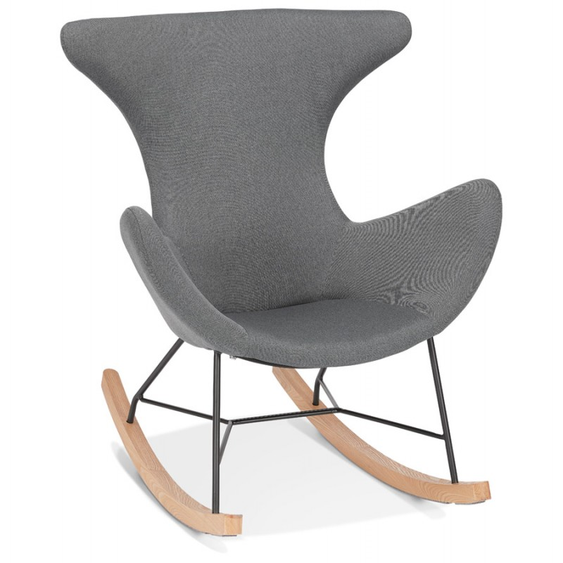 Rocking chair KABOSU en tissu (gris clair) - image 43670