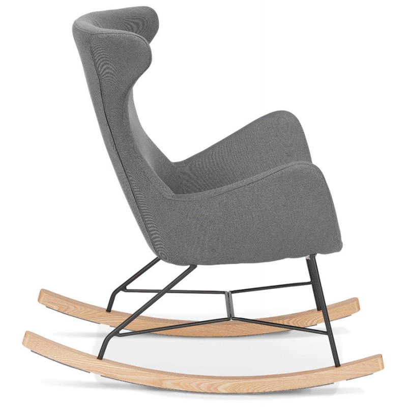 Rocking chair KABOSU en tissu (gris clair) - image 43672