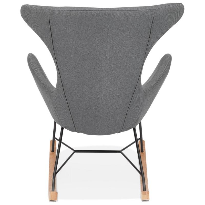 Rocking chair KABOSU en tissu (gris clair) - image 43674