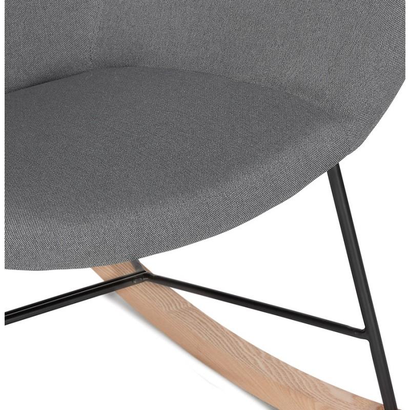 Rocking chair KABOSU en tissu (gris clair) - image 43676