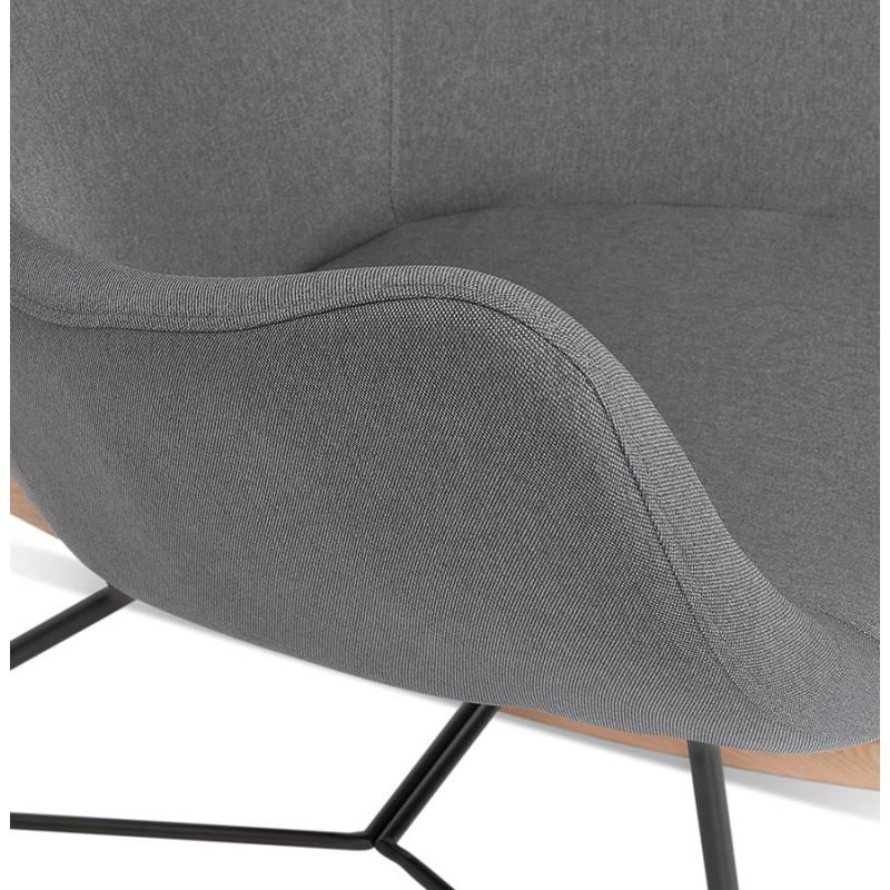 Rocking chair KABOSU en tissu (gris clair) - image 43677