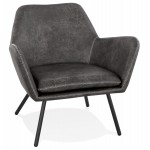 Hiro retro and vintage lounge chair (dark grey)