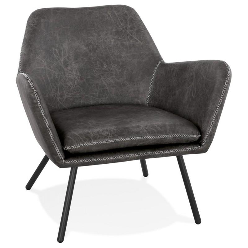 Fauteuil lounge rétro et vintage HIRO (gris foncé) - image 43683