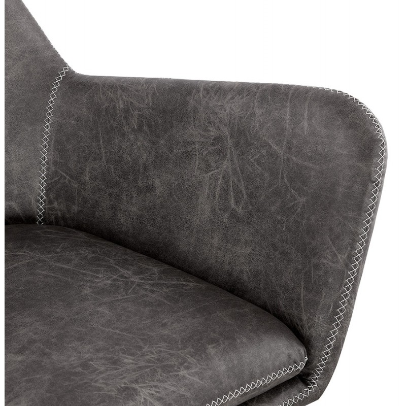 Fauteuil lounge rétro et vintage HIRO (gris foncé) - image 43688