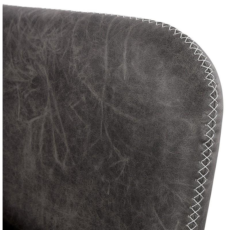 Fauteuil lounge rétro et vintage HIRO (gris foncé) - image 43692