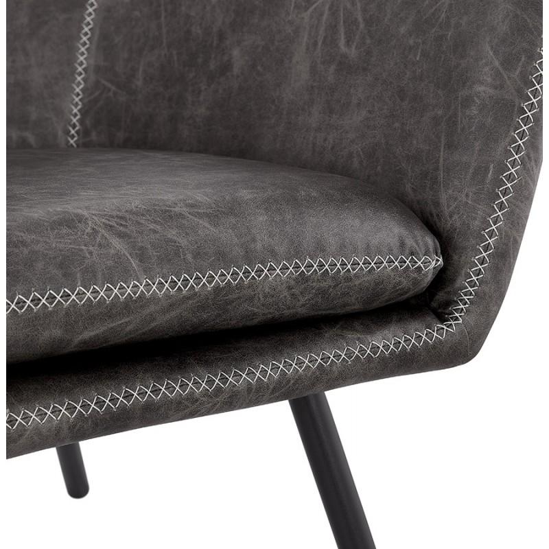 Fauteuil lounge rétro et vintage HIRO (gris foncé) - image 43693