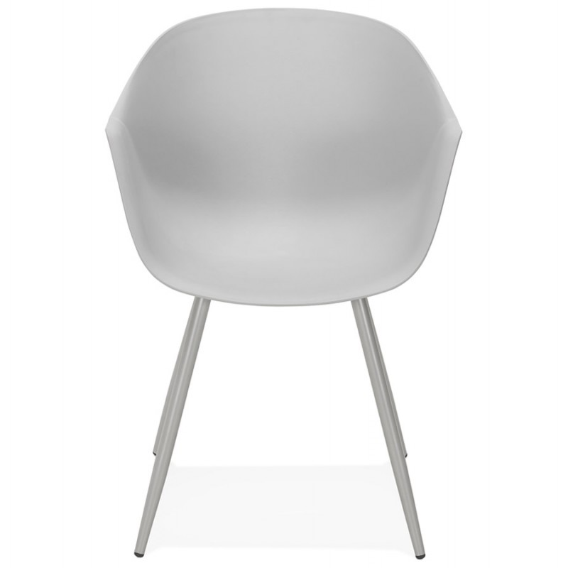 Chaise design scandinave avec accoudoirs COLZA en polypropylène (gris) - image 43699