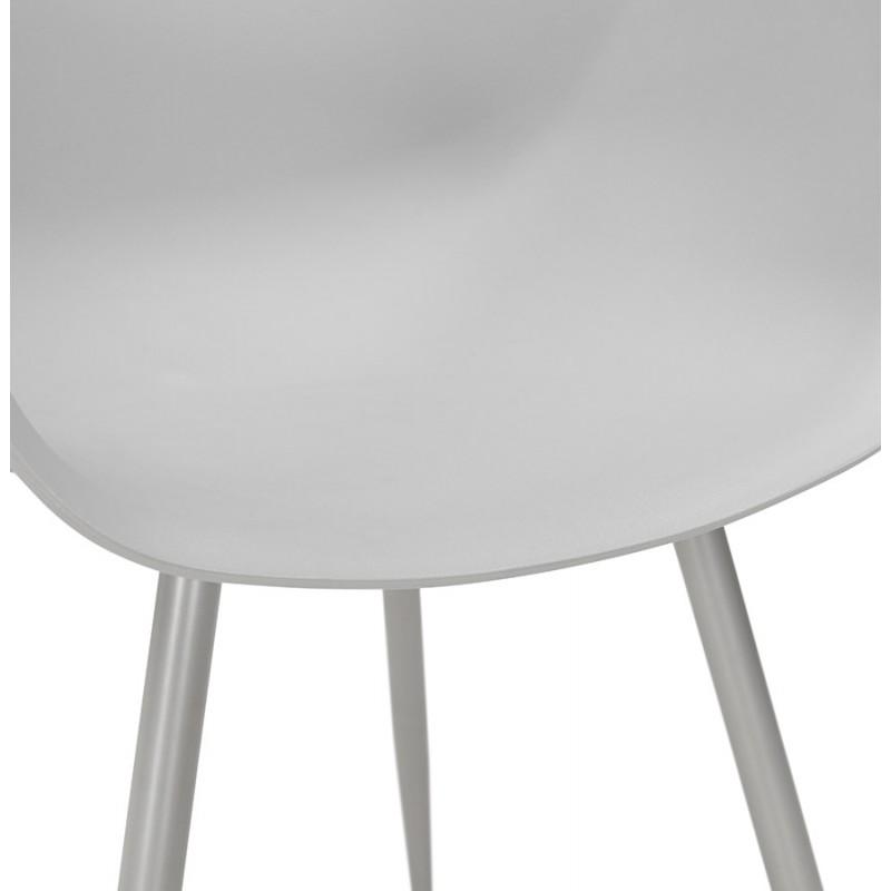 Chaise design scandinave avec accoudoirs COLZA en polypropylène (gris) - image 43704