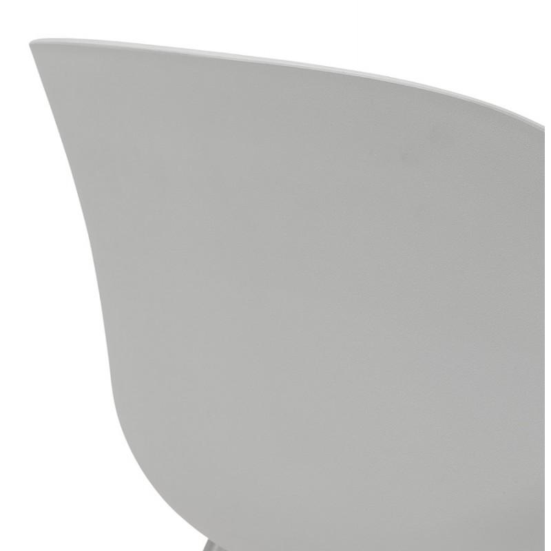 Chaise design scandinave avec accoudoirs COLZA en polypropylène (gris) - image 43707