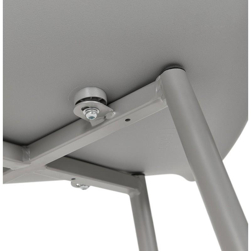 Chaise design scandinave avec accoudoirs COLZA en polypropylène (gris) - image 43709
