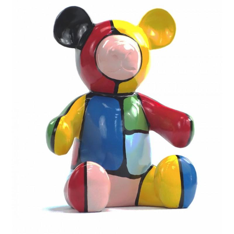 Set di 3 statue sculture decorative disegno NOUNOURS resina H46/29/21 cm (Multicolor) - image 43714