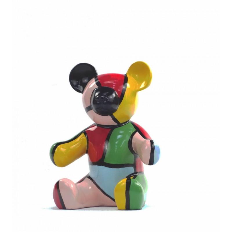 Conjunto de 3 estatuas esculturas decorativas diseño NOUNOURS resina H46/29/21 cm (Multicolor) - image 43718