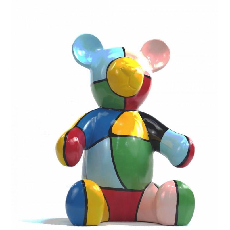 Conjunto de 3 estatuas esculturas decorativas diseño NOUNOURS resina H46/29/21 cm (Multicolor) - image 43721