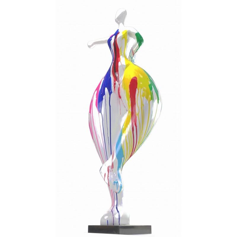 Statua scultura decorativa disegno DONNA ELEGANTE in resina H138 cm (multicolore) - image 43749