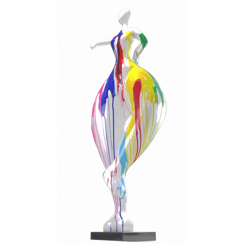 Statue sculpture décorative design FEMME ELEGANTE en résine H138 cm (Multicolore) - image 43749