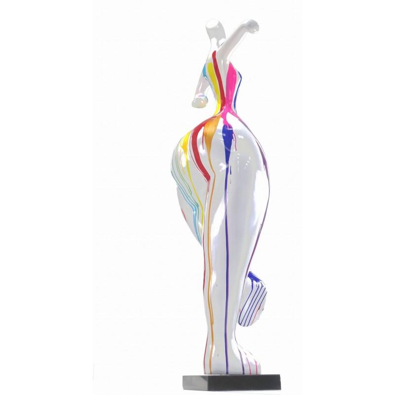 Statua scultura decorativa disegno DONNA ELEGANTE in resina H138 cm (multicolore) - image 43752