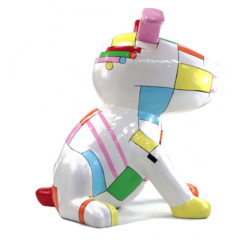 Statue decorative sculpture design CHIEN BANDE DESSINEE in resin H100 cm (Multicolored) - image 43760