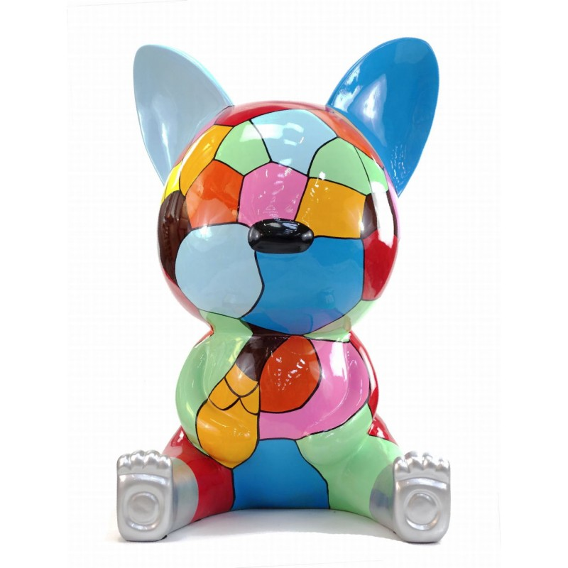 Statue decorative sculpture design CHAT ASSIS POP ART in resin H100 cm (Multicolored) - image 43774