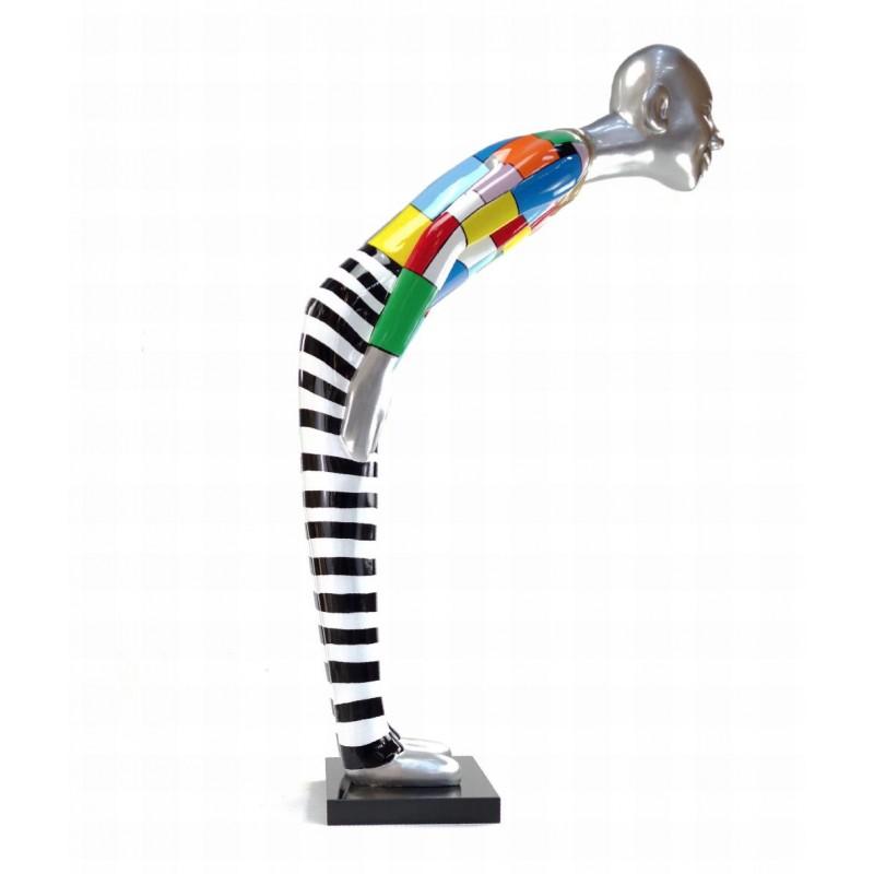 Diseño de escultura decorativa de la estatua BIENVENIDO en resina H155 cm (Multicolor) - image 43788