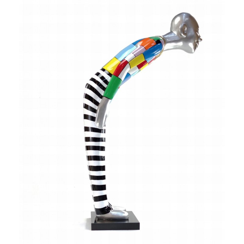 Statua scultura decorativa disegno BENVENUTO in resina H155 cm (Multicolore) - image 43788