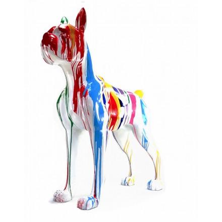Diseño de escultura decorativa de la estatua CHIEN DEBOUT FLASHY en resina H150 cm (Multicolor)
