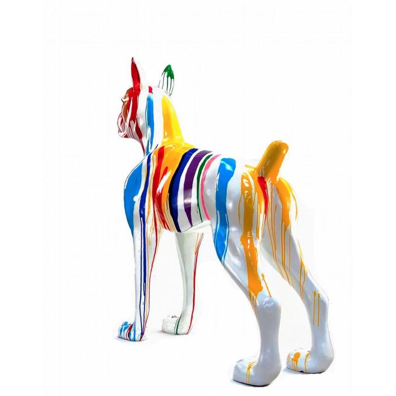 Statue sculpture décorative design CHIEN DEBOUT FLASHY en résine H150 cm (Multicolore) - image 43842