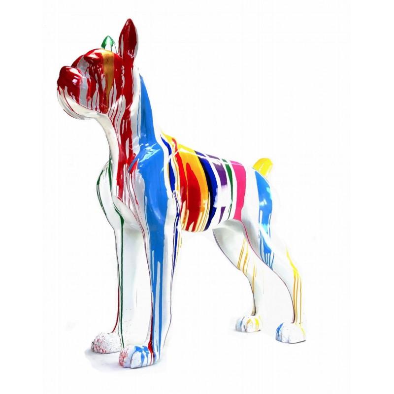 Statue sculpture décorative design CHIEN DEBOUT FLASHY en résine H150 cm (Multicolore) - image 43847