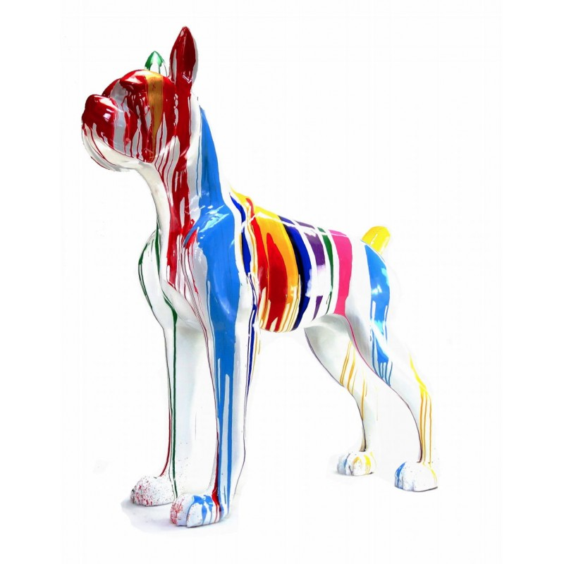 Statue decorative sculpture design CHIEN DEBOUT FLASHY in resin H150 cm (Multicolored) - image 43847