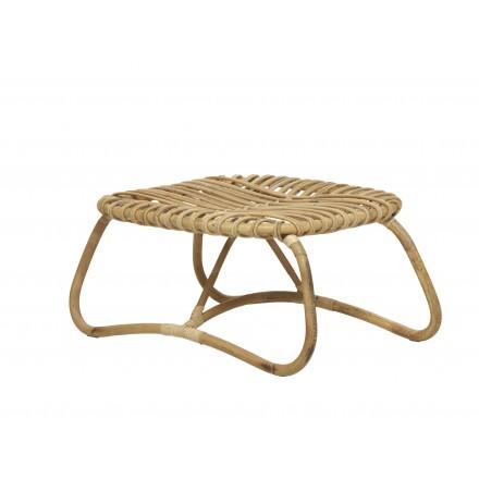 Tavolino in rattan naturale stile vintage BOUCLE