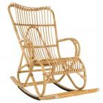 Rocking chair en rotin naturel MARLENE style vintage