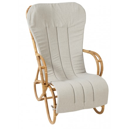Cuscino sedia a dondolo in tessuto MARLENE (grigio chiaro)