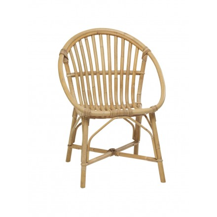 Bruno vintage style natural rattan chair