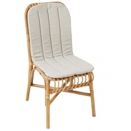 Coussin de chaise VALERIE en tissu (gris clair)