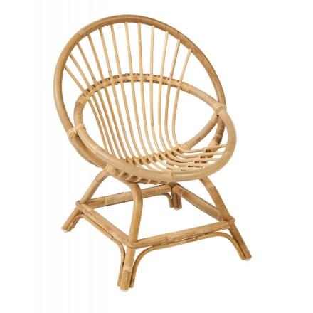 Sedia in rattan naturale in stile vintage Didier