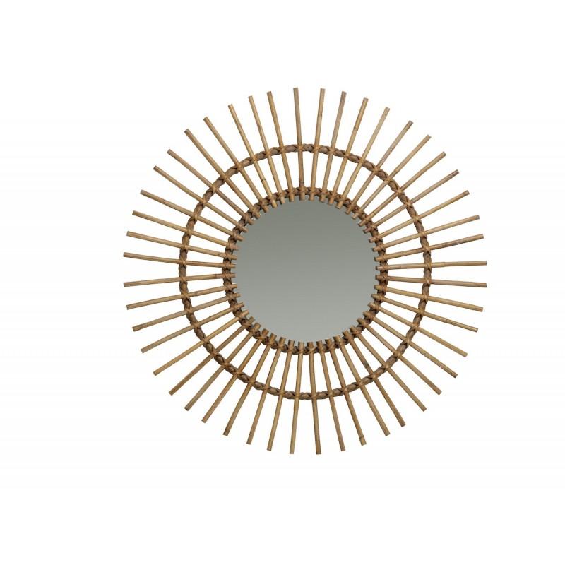 Miroir en rotin naturel  SOLEIL style vintage - image 44337