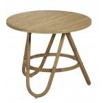 Table basse, bout de canapé DIABOLO en rotin (Ø 50 cm) (naturel)