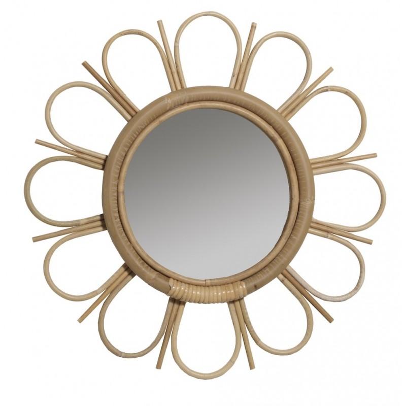 Espejo de ratán de estilo vintage MARGUERITTE - image 44352