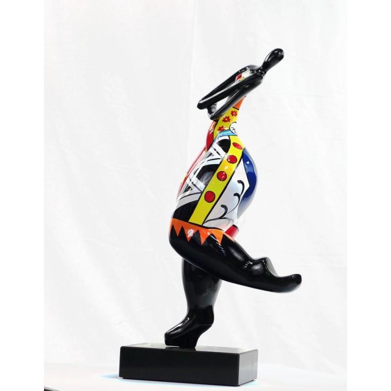 Set de 3 statues sculptures décoratives design FEMME RUMBA en résine H51 (multicolore) - image 44382