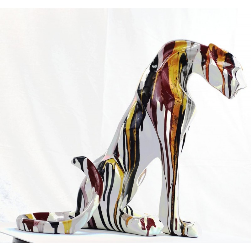 Statuette design decorative sculpture Panther Savannah resin H100 (multicolor) - image 44404