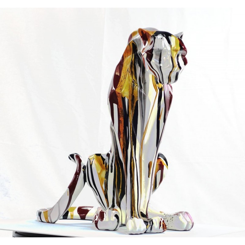 Statuette design decorative sculpture Panther Savannah resin H100 (multicolor) - image 44405
