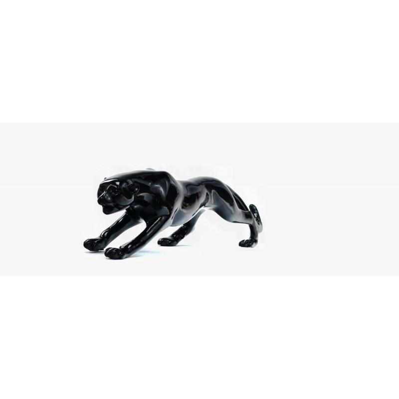Statue sculpture décorative design PANTHERE en résine H19 (noir) - image 44410