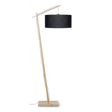 AnDES green linen lamp (natural, black)