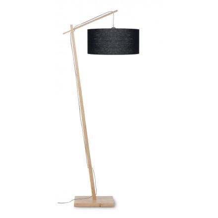 Lámpara de lino verde AnDES (natural, negro)