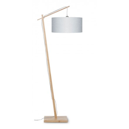 Lámpara de lino verde AnDES (natural, gris claro)
