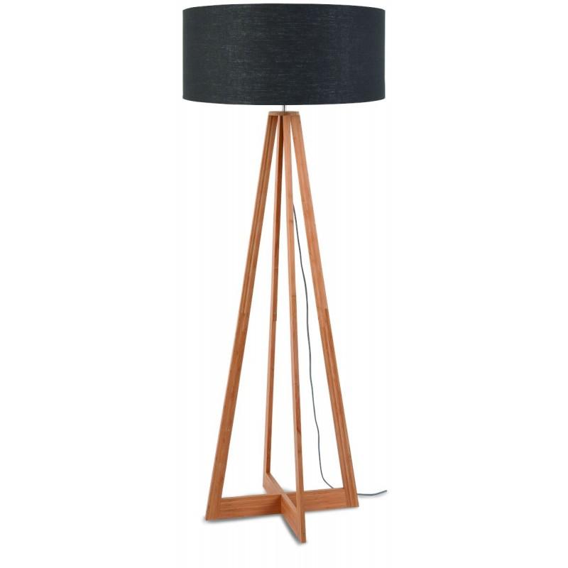 EverEST green linen lamp (natural, dark grey)