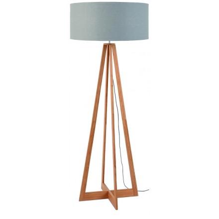 EverEST green linen lamp (natural, light grey)